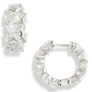 NWOT Nadri Tulle Huggie Hoop Earrings